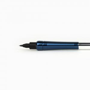 OHTO Auto Sharp No-Noc 0.5 mm Mekanik Kurşun Kalem Parlak Lacivert-Gümüş AP-505N-SVBL 6555 - Thumbnail