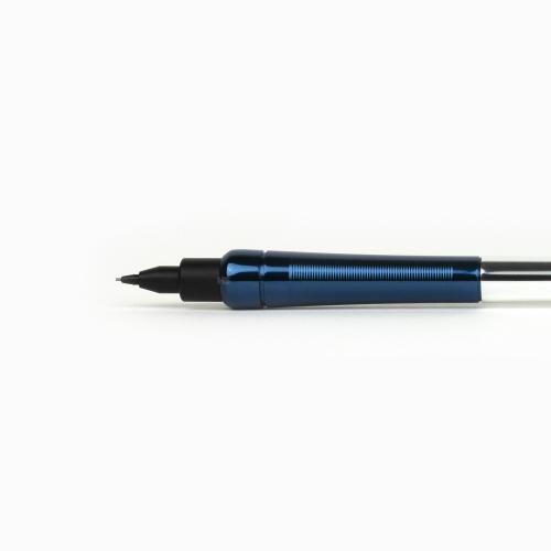 OHTO Auto Sharp No-Noc 0.5 mm Mekanik Kurşun Kalem Parlak Lacivert-Gümüş AP-505N-SVBL 6555