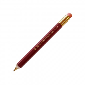 Ohto - OHTO Sharp Pencil Ahşap 2.0 mm Mekanik Kurşun Kalem Bordo APS-680E-BK 1896