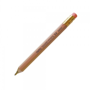Ohto - OHTO Sharp Pencil Ahşap 2.0 mm Mekanik Kurşun Kalem Naturel APS-680E-BK 1872