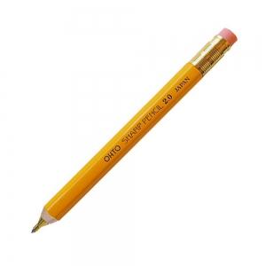 Ohto - OHTO Sharp Pencil Ahşap 2.0 mm Mekanik Kurşun Kalem Sarı APS-680E-BK