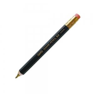 Ohto - OHTO Sharp Pencil Ahşap 2.0 mm Mekanik Kurşun Kalem Siyah APS-680E-BK 1919