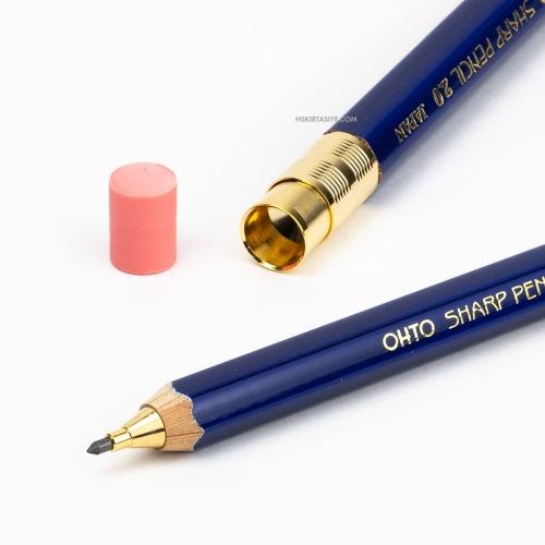 OHTO Sharp Pencil Ahşap 2.0 mm Mekanik Kurşun Kalem Mavi APS-680E-BL 6029