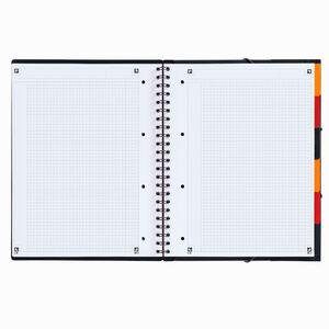 Oxford Organiserbook A4 Kareli Defter Siyah 8010 - Thumbnail