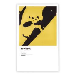 Deffter - PANTONE Pop Yellow Just Black 11.5X18.5 cm Noktalı Defter 2638