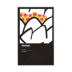 Deffter - PANTONE Sun Yellow Rose Magenta 11.5X18.5 cm Noktalı Defter 2652