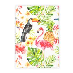 Deffter - Papağan Flamingo Çizgili Defter