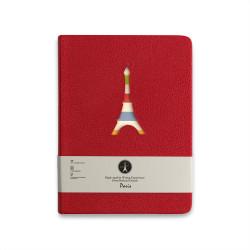 H&S - Paris Kırmızı 10.2x14 cm 120 Yaprak Çizgili Defter