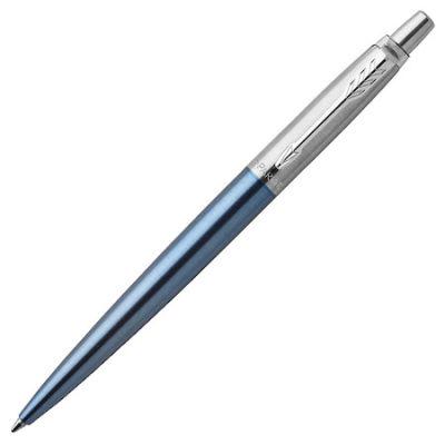Parker Jotter Yarı Krom Metalik Mavi Tükenmez Kalem