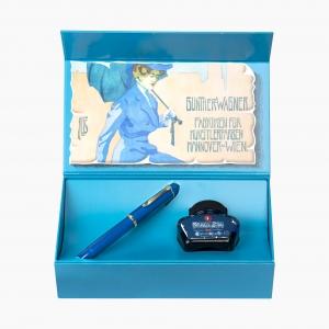 Pelikan - Pelikan M120 Iconic Blue Özel Seri Dolma Kalem F Uç Set