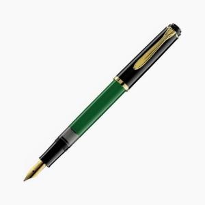 Pelikan - Pelikan M150 Yeşil Siyah Dolma Kalem M Uç