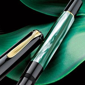 Pelikan - Pelikan M200 Green Marble Dolma Kalem B Uç (1)
