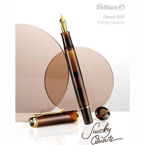 Pelikan M200 Smoky Quartz 2017 Special Edition Dolma Kalem Mürekkep Set M Uç