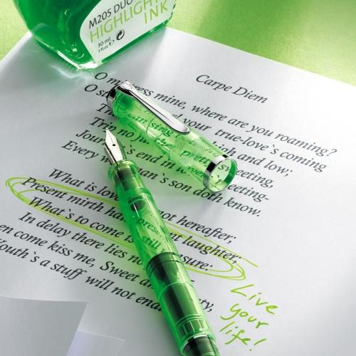 Pelikan M205 Duo İşaretleme Dolma Kalemi ve Mürekkep Set Yeşil