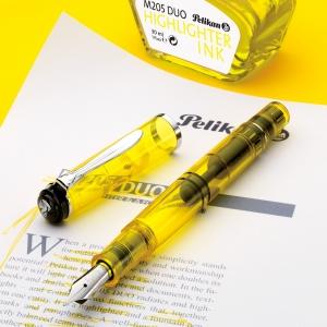 Pelikan - Pelikan M205 Duo İşaretleme Dolma Kalemi ve Mürekkep Set Sarı (1)