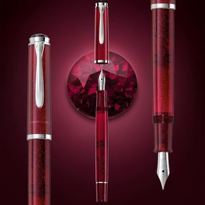 Pelikan M205 Star Ruby Special Edition Dolma Kalem M Uç 4272 - Thumbnail