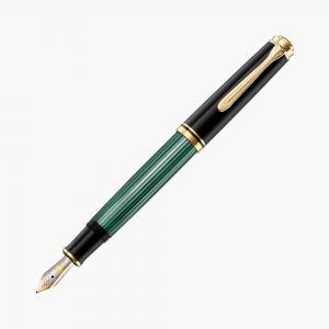 Pelikan - Pelikan Souverain M600 Black Green Dolma Kalem