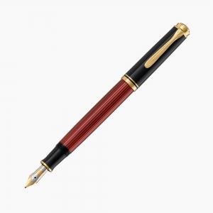 Pelikan - Pelikan Souverain M600 Black Red Dolma Kalem