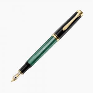 Pelikan - Pelikan Souveran M400 Dolma Kalem Yeşil-Siyah