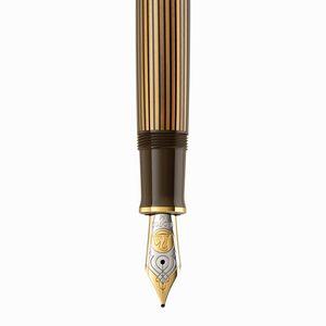Pelikan Souverän M800 Brown Black Special Edition Dolma Kalem M Uç - Thumbnail