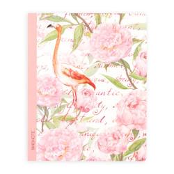 Keskin Color - Pembe Flamingo Çizgili Defter 20x25 cm