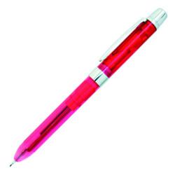 Penac - Penac Ele Şeffaf Multi Pen Neon Fuşya Set