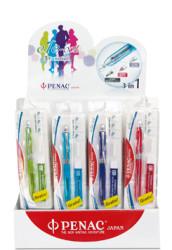 Penac Ele Şeffaf Multi Pen Neon Fuşya Set - Thumbnail