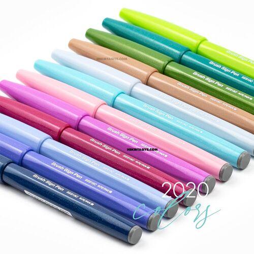 Pentel Brush Sign Pen Touch Olive Green SES15C