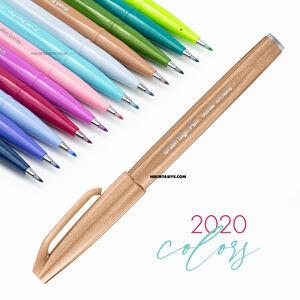 Pentel Brush Sign Pen Touch Pale Brown SES15C - Thumbnail