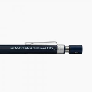 Pentel - Pentel Graph 600 0.5 mm Mekanik Kurşun Kalem Lacivert PG605-CX 0149 (1)