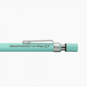 Pentel - Pentel Graph 600 0.7 mm Mekanik Kurşun Kalem Mint Yeşil PG607-SX 0217 (1)