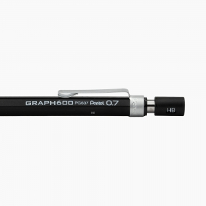 Pentel - Pentel Graph 600 0.7 mm Mekanik Kurşun Kalem Siyah PG607-AX 0187 (1)