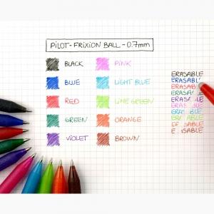 PILOT FriXion Ball 0.7 Silinebilir Jel Kalem Siyah 2709 - Thumbnail