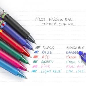 Pilot - PILOT FriXion Ball Clicker Mika Limited Edition Pembe 0.7 mm Silinebilir Jel Kalem 5306 (1)