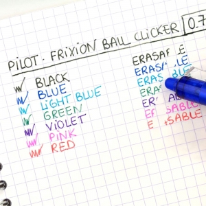 PILOT FriXion Ball Clicker Pembe 0.7 mm Silinebilir Jel Kalem 7559 - Thumbnail
