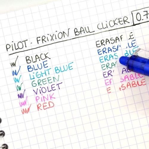 PILOT FriXion Ball Clicker Pembe 0.7 mm Silinebilir Jel Kalem 7559