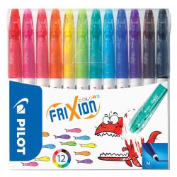 Pilot - Pilot Frixion Colors Silinebilen Keçeli Kalem 12'li