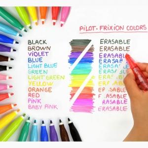 Pilot Frixion Colors Silinebilir Keçeli Kalem Siyah 3611 - Thumbnail