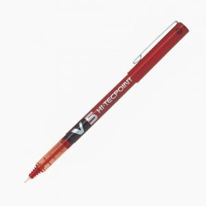 Pilot - Pilot Hi-Tecpoint V5 Liquid Ink Roller Kalem Kırmızı 5697