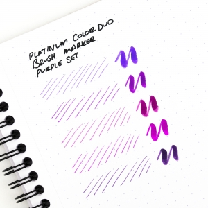 Platinum - Platinum CF-A Color Duo Brush Marker 5′li Purple Set (1)