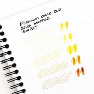Platinum - Platinum CF-A Color Duo Brush Marker 5′li Sun Set (1)
