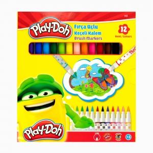 Play Doh - Play-Doh 12'li Fırça Uçlu Keçeli Kalem Seti PLAY-KE009 5340