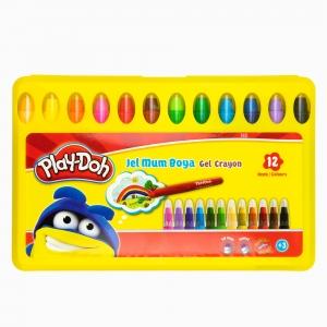 Play Doh - Play-Doh 12'li Jel Mum Boya Seti PLAY-CR014 2527