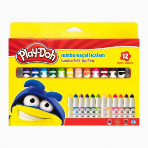 Play Doh - Play-Doh 12'li Jumbo Keçeli Kalem Seti PLAY-KE010 8082