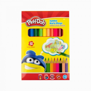 Play Doh - PLay-Doh 12'li Jumbo Kuru Boya Seti PLAY-KU004 0376