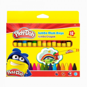 Play Doh - Play-Doh 12'li Jumbo Mum Boya Seti PLAY-CR005 2981