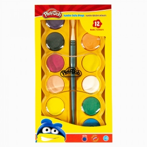 Play Doh - Play-Doh 12′li Jumbo Sulu Boya Seti PLAY-SU007 4608