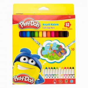 Play Doh - Play-Doh 12'li Keçeli Kalem Seti PLAY-KE007 3025