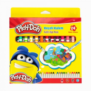 Play Doh - Play-Doh 24'lü Keçeli Kalem Seti PLAY-KE011 2450