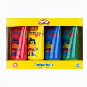 Play Doh - Play-Doh 4'lü Parmak Boya Seti PLAY-PR034 4126